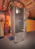 Intero sistema di riscaldamento della casa Immagine Stock