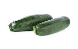Intero zucchini fresco isolato su bianco Fotografia Stock