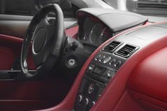 Interor роскошного автомобиля Стоковое Изображение RF