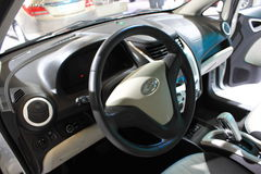 Interor dell'automobile di bianco di Springo Immagine Stock