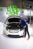 Interor dell'automobile di bianco di volt di Chevrolet Fotografia Stock