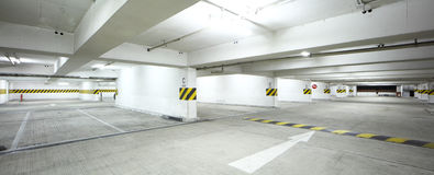 Interor of parking lot Stock Photography