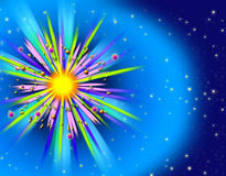Interplanetaire Explosie Royalty-vrije Stock Foto's