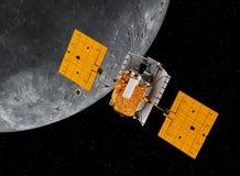Interplanetaire Ruimtestation Cirkelende Planeet Mercury Royalty-vrije Stock Fotografie