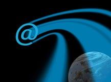 Interplanetarische Kommunikationen lizenzfreie abbildung