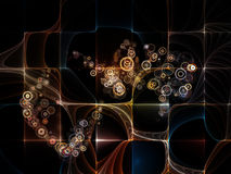 Visualization of Fractal Circles Stock Images