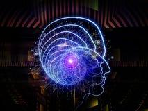 Virtualization of Human Technology Royalty Free Stock Image