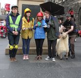 Interprète au festival 2014 de frange d'Edimbourg Images libres de droits