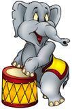 Interprète de cirque d'éléphant Images stock