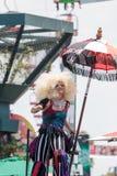 Interprète de cirque théâtral Megan Fontaine Image libre de droits