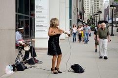Interprète de rue de Chicago photographie stock libre de droits