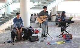 Interprète de rue de Hong Kong Photographie stock libre de droits