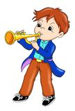 Interprète de trompette illustration de vecteur