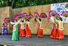 Interprète féminin de danse coréenne traditionnelle Photos libres de droits