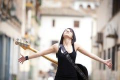 Interprète féminin joyeux Image libre de droits