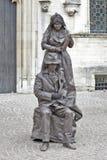 Interprète humain de rue à Bruges Image stock