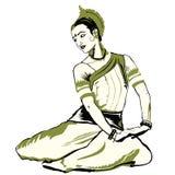 Interprète indien de danse Images libres de droits