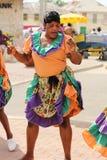 Interprète jamaïcain de rue Photos stock