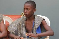Interprète jamaïcain de rue Image stock