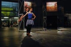 Interprètes à 6ème Moscou Biennale d'art contemporain Photographie stock
