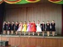 Interprètes au DPRK Corée du Nord Photographie stock