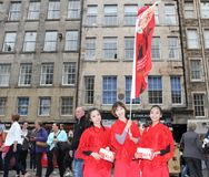 Interprètes au festival de frange d'Edimbourg Image stock