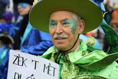 Interprètes de rue de carnaval à Maastricht Image stock