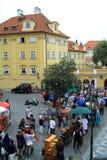 Interprètes de rue, Prague, République Tchèque photo libre de droits
