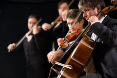 Interprétation d'orchestre à cordes Image libre de droits