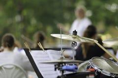 Interprétation d'orchestre symphonique Images stock