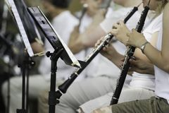 Interprétation d'orchestre symphonique Photo libre de droits