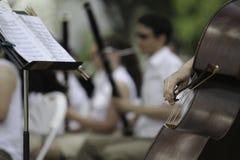 Interprétation d'orchestre symphonique Image stock