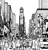 Interprétation de Times Square à New York Photographie stock