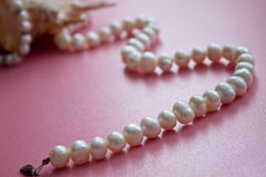 Interpréteur de commandes interactif avec un collier de perle Images stock