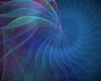 Interpréteur de commandes interactif bleu Images stock