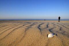 Interpréteur de commandes interactif sur la plage Photographie stock