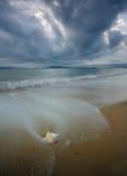 Interpréteur de commandes interactif sur une plage Photographie stock