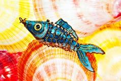 interpréteurs de commandes interactifs de poissons Photos libres de droits