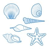 Interpréteurs de commandes interactifs et étoiles de mer de mer illustration stock