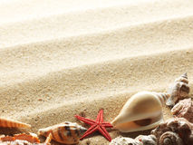 Interpréteurs de commandes interactifs sur le sable Photo stock
