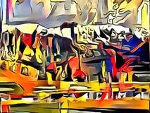 A interpretação da abstração de uma paisagem Imagens de Stock