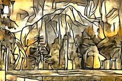A interpretação da abstração de uma paisagem Fotos de Stock