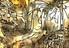 A interpretação da abstração de uma paisagem Imagens de Stock Royalty Free