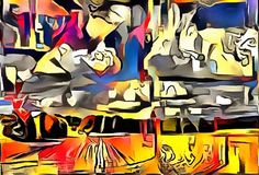 Interpretacja abstrakcja krajobraz Obraz Royalty Free