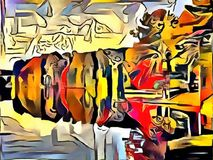 Interpretacja abstrakcja krajobraz Obrazy Royalty Free