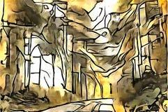Interpretacja abstrakcja krajobraz Obraz Stock