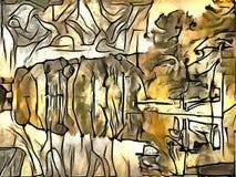 Interpretacja abstrakcja krajobraz Zdjęcia Stock