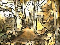 Interpretacja abstrakcja krajobraz Obrazy Stock