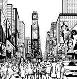 Interpretation des Times Square in New York Stockfotografie