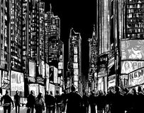 Interpretation des Times Square in New York Stockfoto
